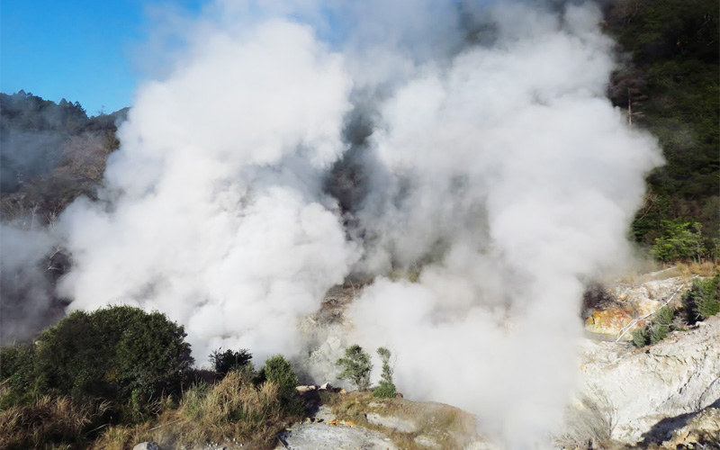 硫黄噴気地帯